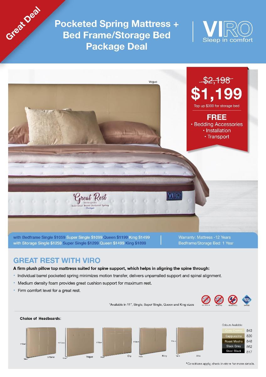 Viro_Great_Rest_Spring Mattress_Bed Frame