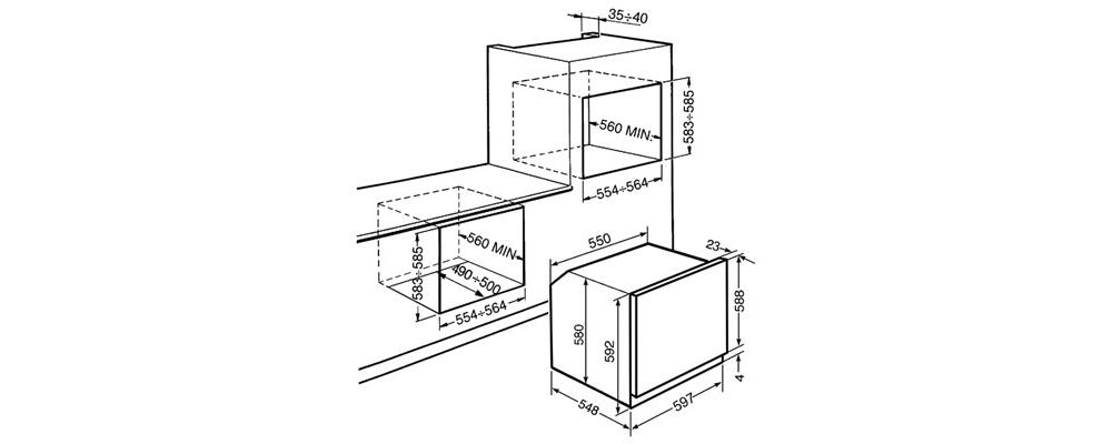PSMSF6101VS/Linea_Ventilated_Catalytic_Oven_60cm_measurements_by_born_in_colour