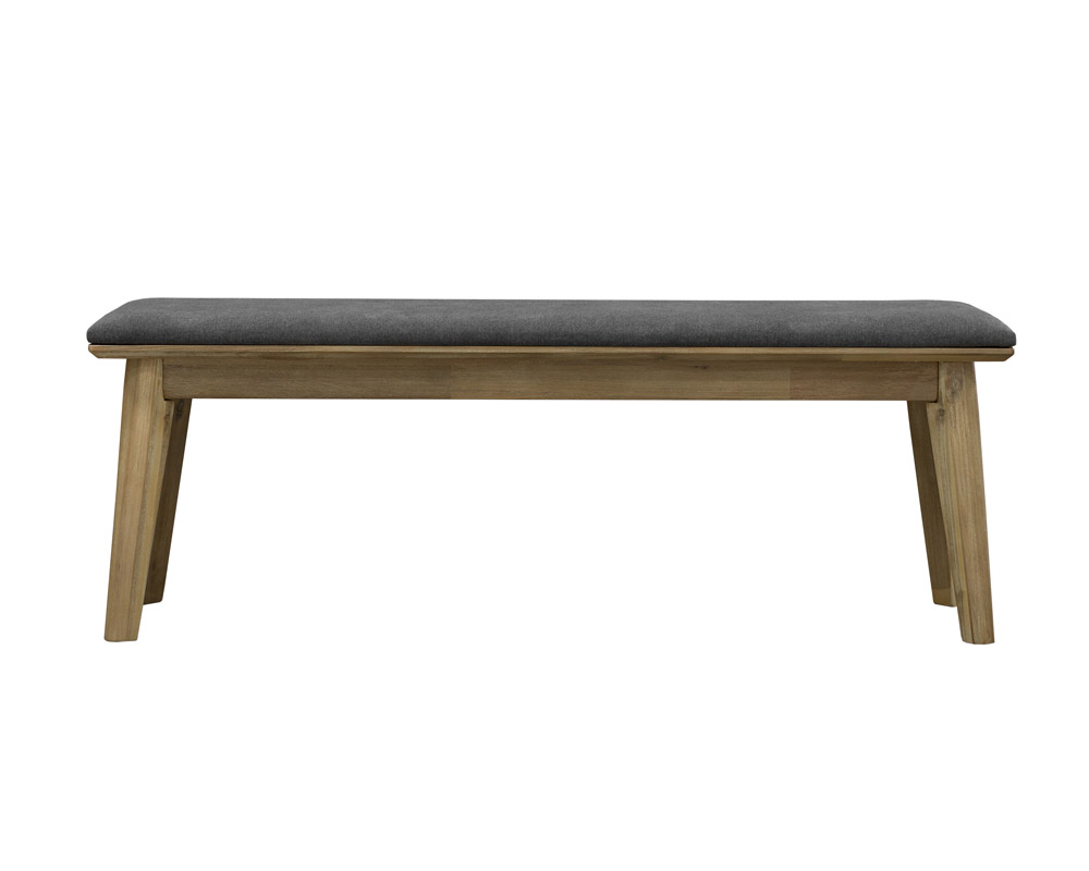 seth scandi-industrial dining bench front view