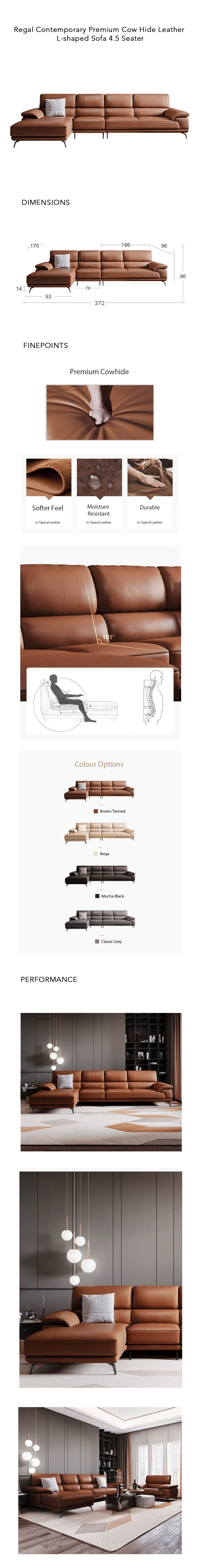 regal-contemporary-cow-hide-l-shape-leather-specifications