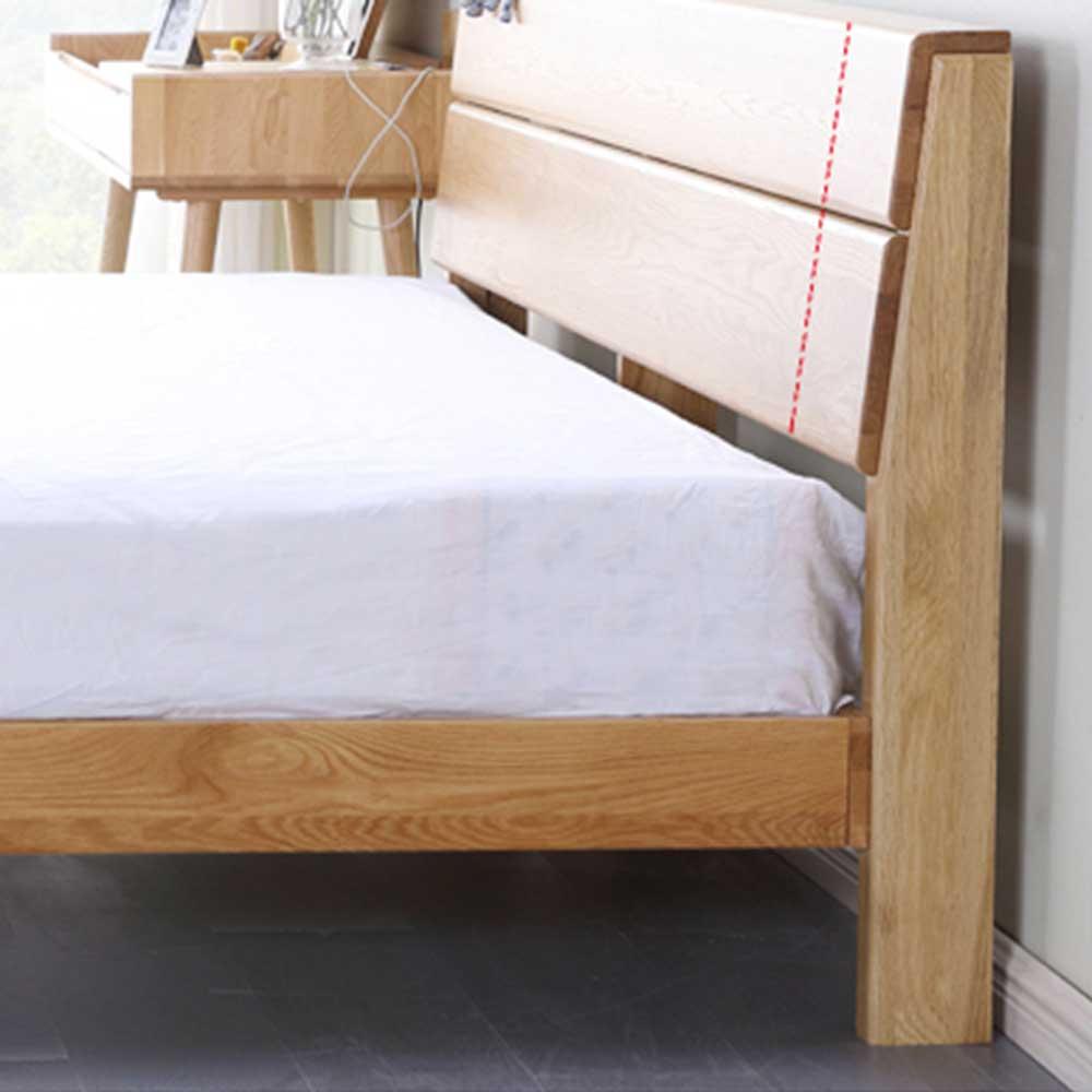 Yasu Nature Oak Bed Frame