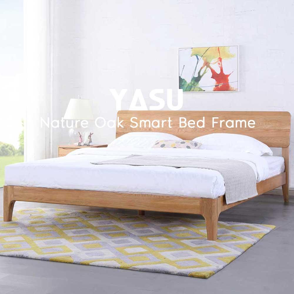 Yasu Nature Oak Smart Bed Frame (King)
