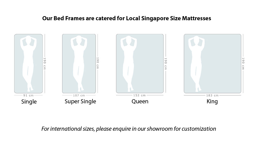 Yasu Bed Frame for Local Singapore Size Mattresses