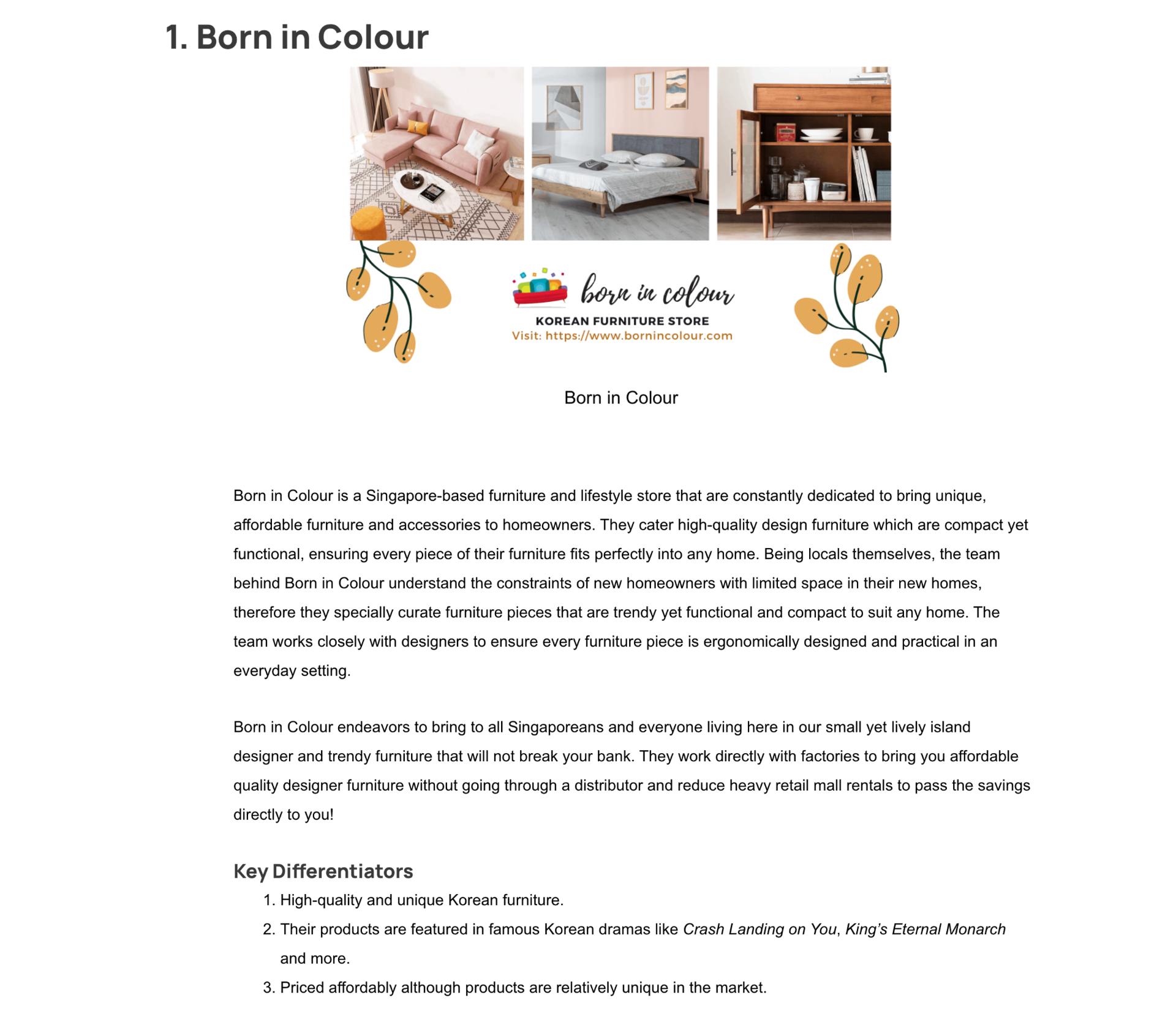 Born In Colour Feature In The Fun Empire Best Furniture Stores In Singapore