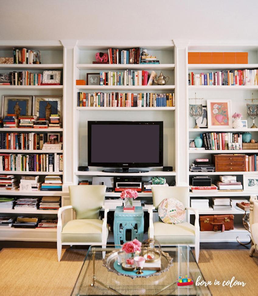 Bookshelf Flatscreen TV