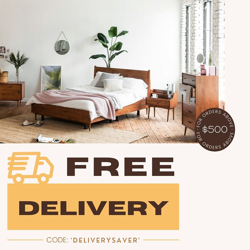 Free Delivery For Orders Above $500